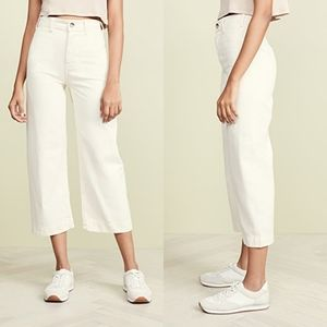 Free People Patti Cropped Pants in Ivory